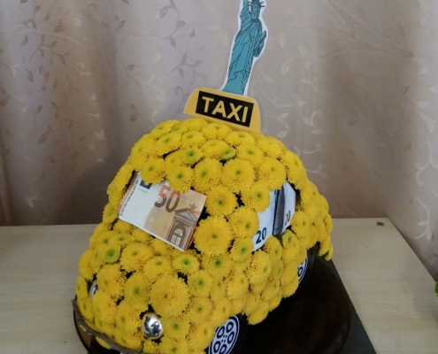 Tischdekoration - New Yorker Taxi