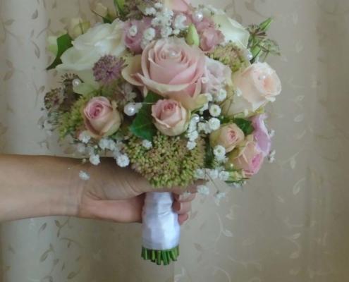 Hochzeit - Brautstrauss rosa-weiss
