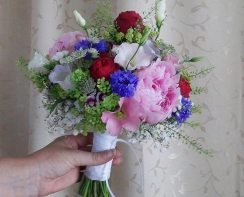 Hochzeit - Brautstrauss sommerlich bunt