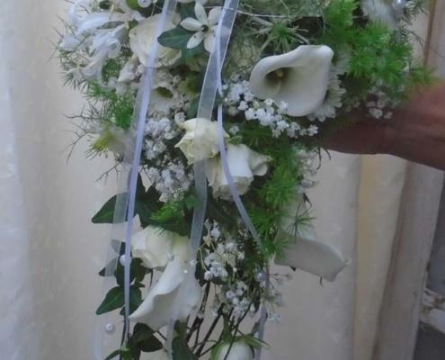 Hochzeit - Brautstrauss in weiss mit Calla